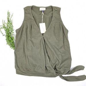 NWT Universal Thread Olive Green Flowy Tank